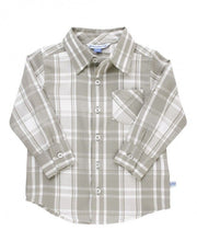 Load image into Gallery viewer, Gray & White Plaid Button Down