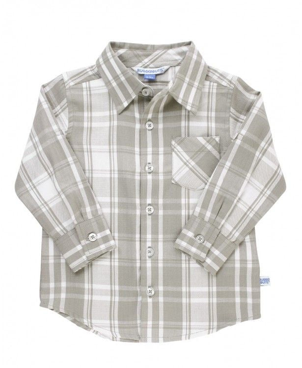 Gray & White Plaid Button Down
