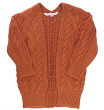 Load image into Gallery viewer, Orange Spice Chunky Knit Open Cardigan