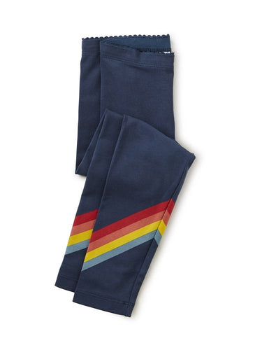 Rainbow Leggings in Whale Blue
