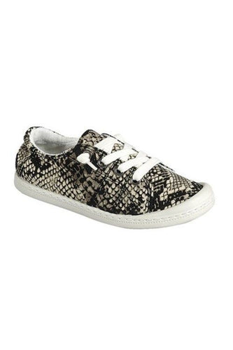 Low Top Lace Up Sneakers Ladies