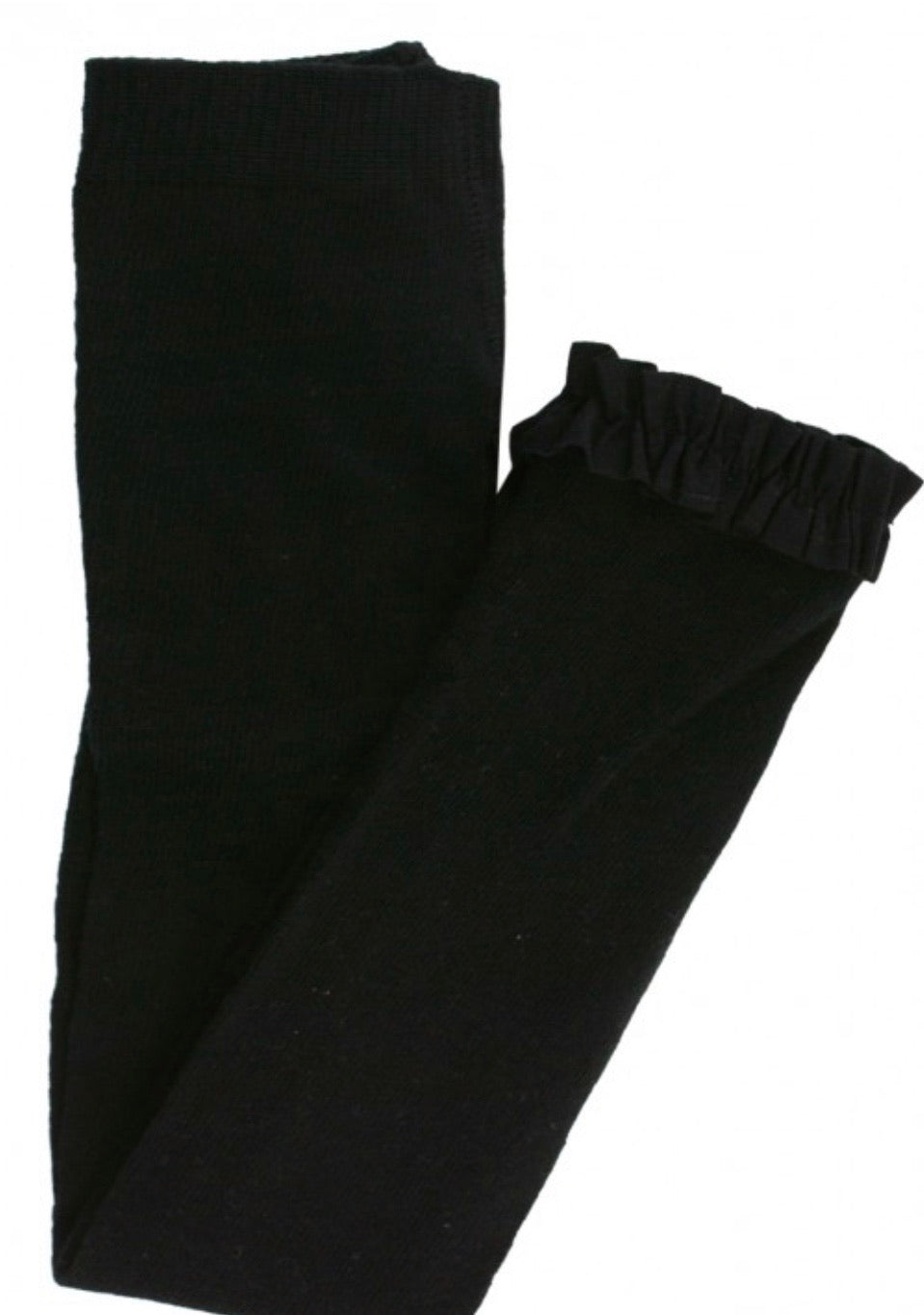Black Footless Ruffle Tights