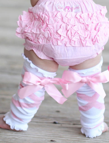 Pink Ballet Bow Leg Warmers