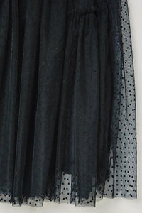 Tulle Lace Midi Skirt