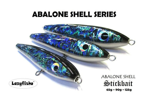 ABALONE SHELL FLOATING WOODEN STICKBAIT LAZYFISHO