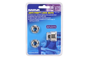 NARVA ANTI THEFT KIT M12 X 1.75 SECURITY NUTS (2)