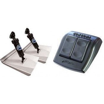 BENNETT HYDRAULIC TRIM TAB KIT - COMPLETE M80 SPORTS KIT WITH ROCKET SWITCH - 8 x 10 INCH TABS