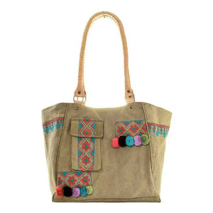 Embroidered Tent Shoulder Bag