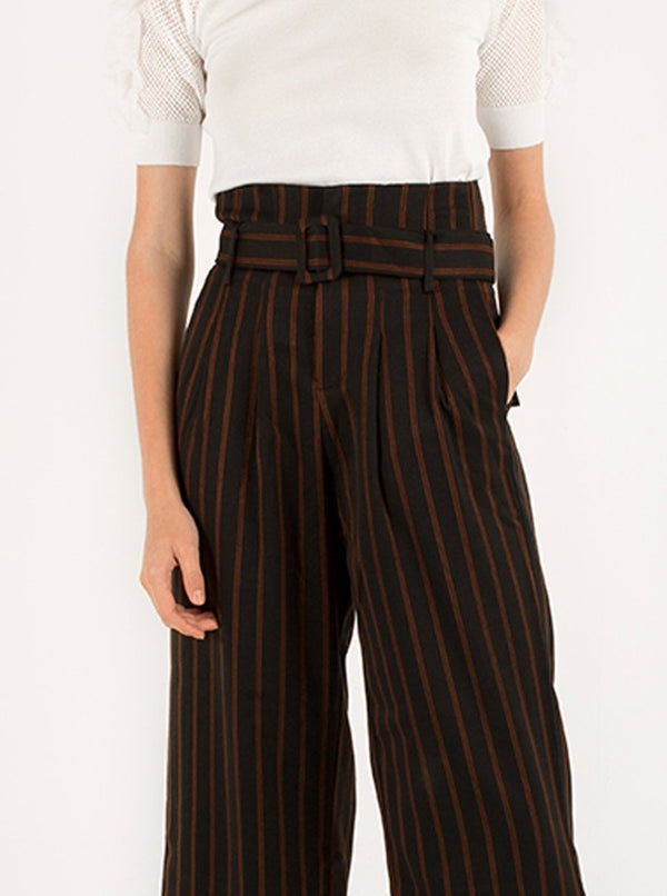 Nadie High Waisted Trousers in Black