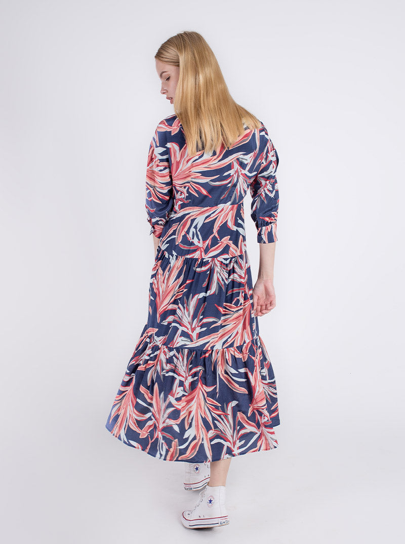 Myra Silk Print Dress