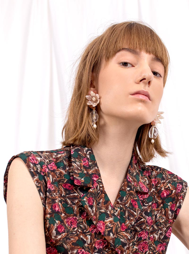 Maddy Floral Drop Earrings