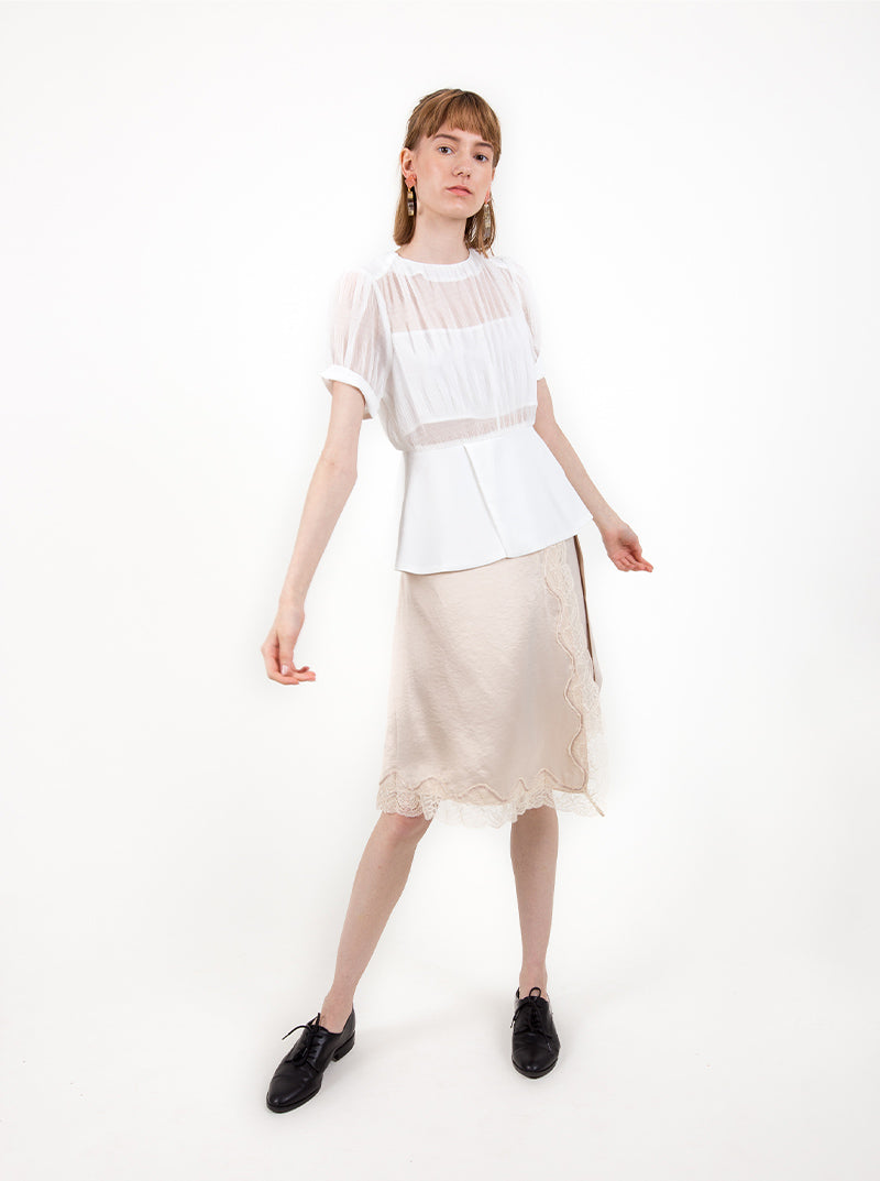 Josefa Blouse in White