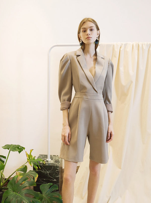 Libby Romper in Taupe