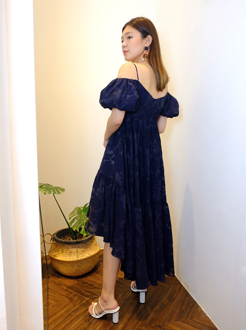DC Off-shoulder Asymmetric Dress