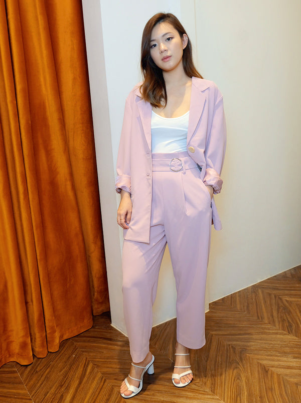 DC Belted Trousers in Lilac