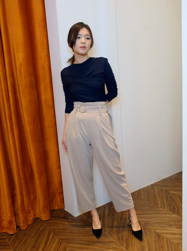 DC Belted Trousers in Beige