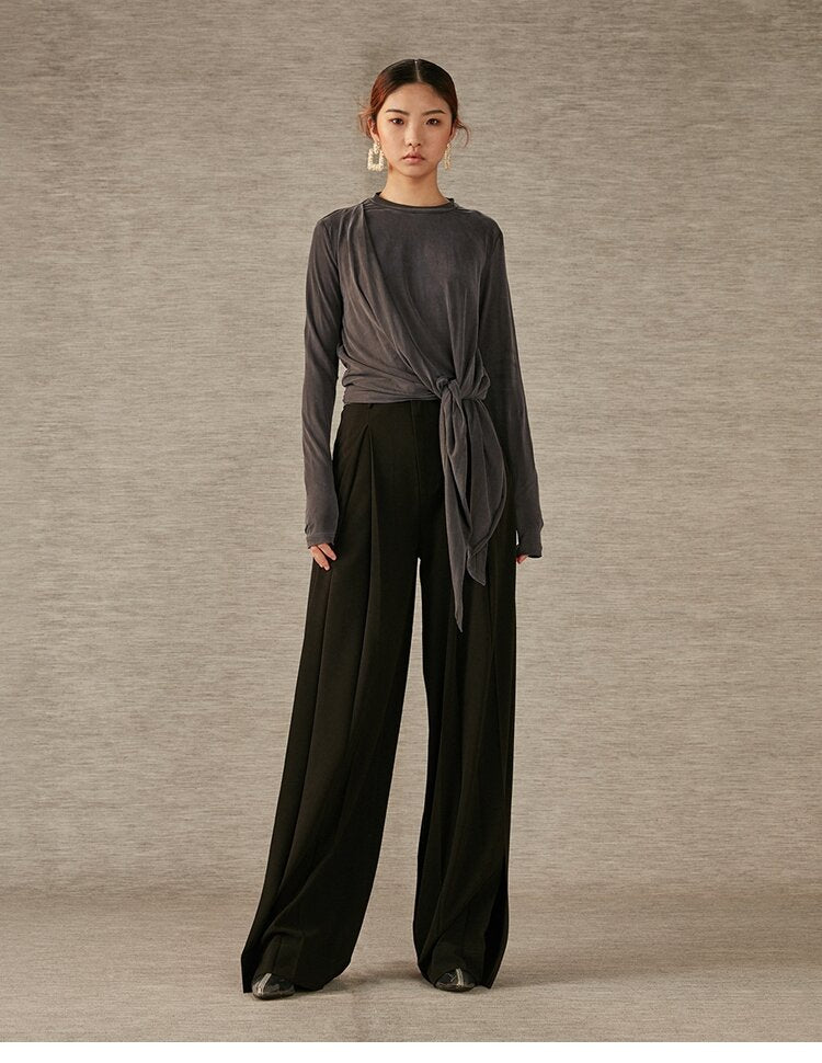 DC Classic Wide Leg Pants with Side Slits