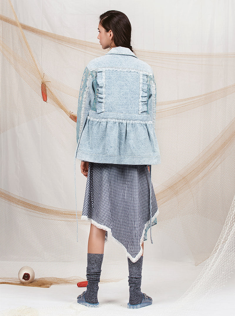 Denim Iridescent Jacket