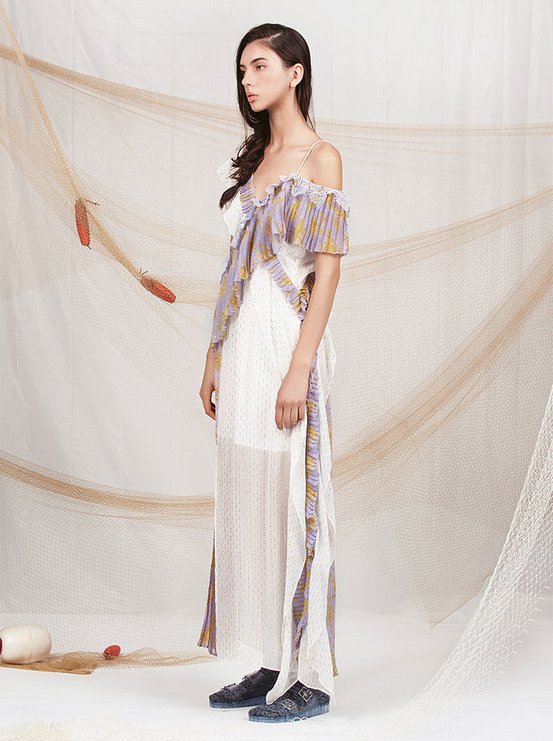 Drape Dress in Shimmer & Mimosa