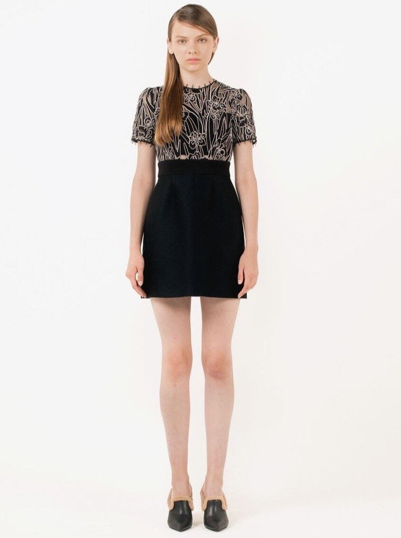 Black Shift Lace Dress in S