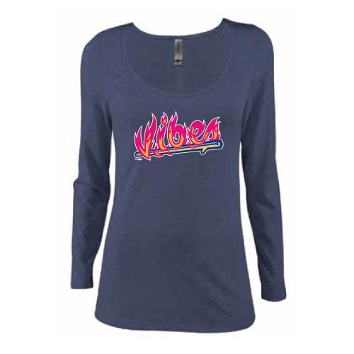 Rocky Mountain Vibes Women's Scoopneck Long Sleeve