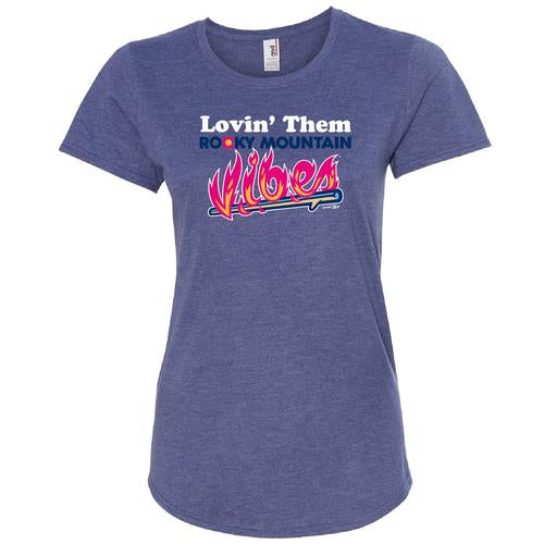 Rocky Mountain Vibes Lovin' Them Rocky Mountain Vibes Scoopneck T-Shirt (Women's)