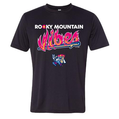 Rocky Mountain Vibes Black Performance T-Shirt