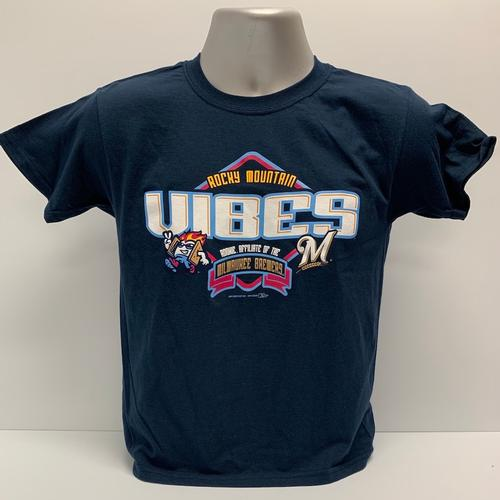 Rocky Mountain Vibes Youth Vibes and Brewers Collaboration Tee