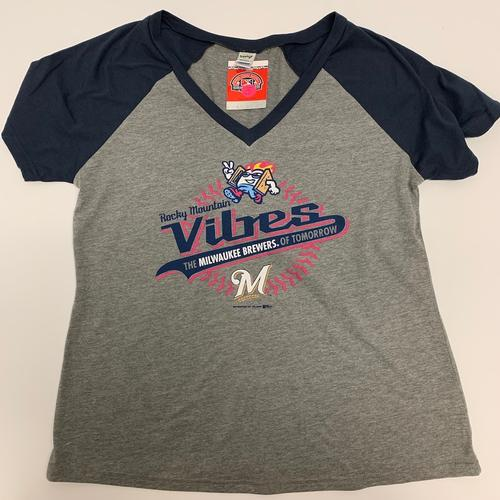 Rocky Mountain Vibes Women's Vibes and Brewers V-Neck Tee