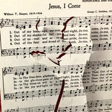 Jesus, I Come Hymn Page, Raised Silhouette of Girl Standing with Outstretched Hands