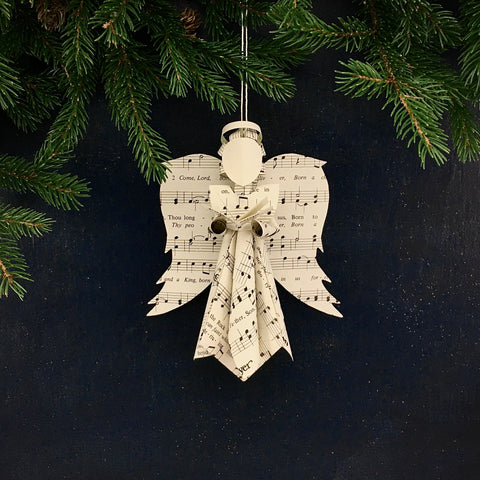 Angel Ornament Holding Song Book