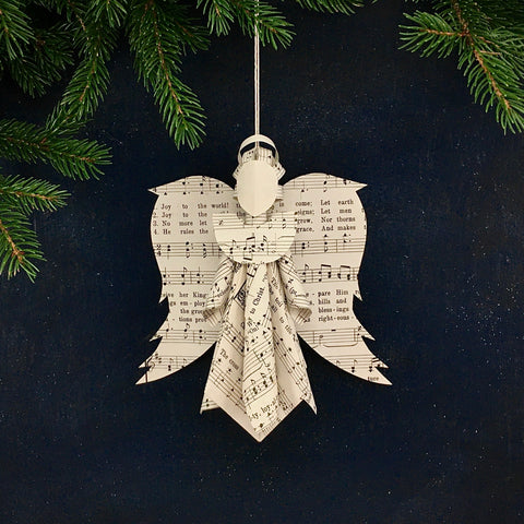 Sheet Music Angel Ornament