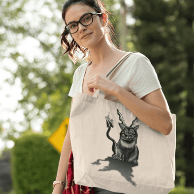 Trash Panda Chic Baphocat Canvas Tote Bag Tote Oyster