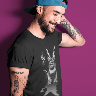 Trash Panda Chic Baphocat Men's Fitted Tee Men's Tees Black / XS