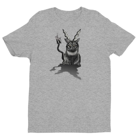 Trash Panda Chic Baphocat Men's Fitted Tee Men's Tees Grey / XS