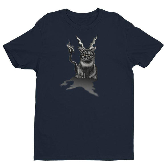 Trash Panda Chic Baphocat Men's Fitted Tee Men's Tees Midnight Navy / XS