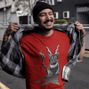Trash Panda Chic Baphocat Men's Fitted Tee Men's Tees Red / XS