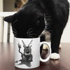 Trash Panda Chic Baphocat Mug with Red Color Inside Mug