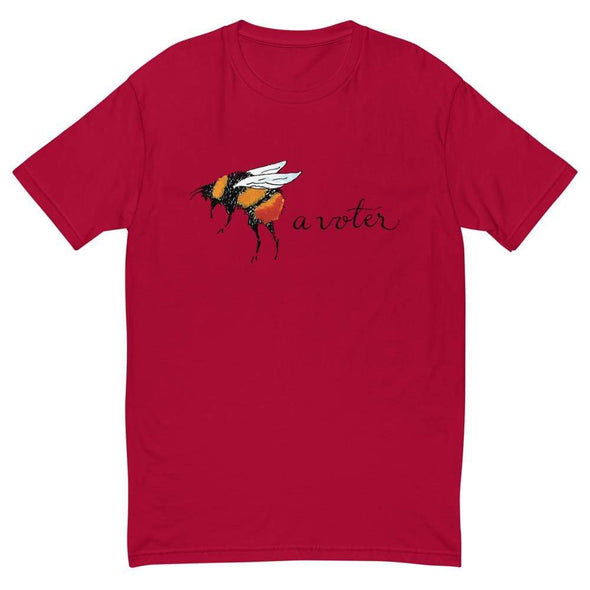 Revolution Art Shop Bee A Voter Mens Fitted Tee Red / XS