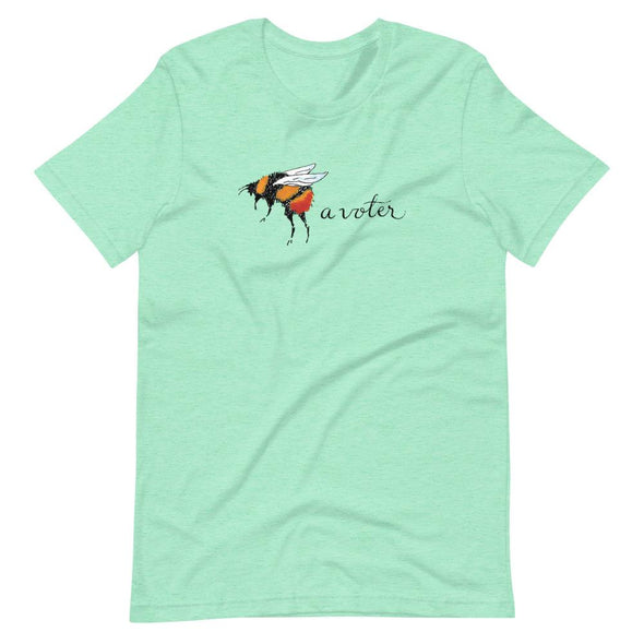 Revolution Art Shop Bee A Voter Unisex T-Shirt Heather Mint / S