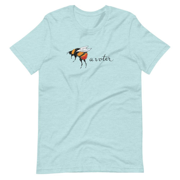 Revolution Art Shop Bee A Voter Unisex T-Shirt Heather Prism Ice Blue / XS