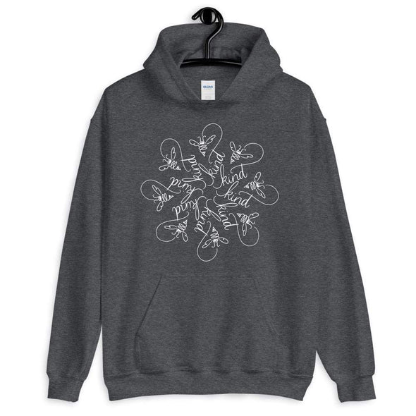 Nicole Bizzarro Bee Kind : The Snowflake Series by Nicole Bizzarro : Unisex Hoodie Hoodie Dark Heather / S