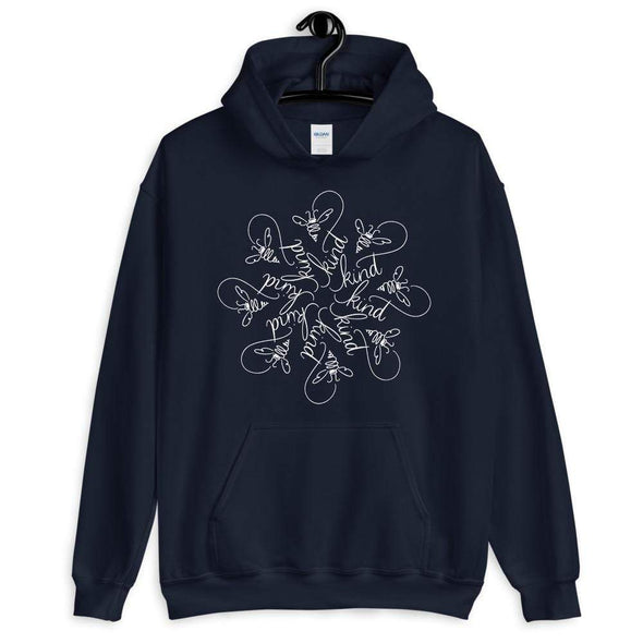 Revolution Art Shop Bee Kind : The Snowflake Series by Nicole Bizzarro : Unisex Hoodie Navy / S