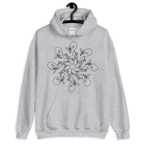 Nicole Bizzarro Bee Kind : The Snowflake Series by Nicole Bizzarro : Unisex Hoodie Hoodie Sport Grey / S