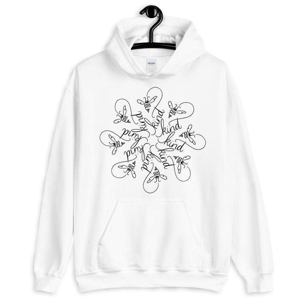 Revolution Art Shop Bee Kind : The Snowflake Series by Nicole Bizzarro : Unisex Hoodie White / S