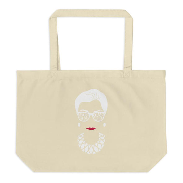 Anne Lesniak Better Bitch Than Mouse RBG Large Organic Canvas Tote Tote