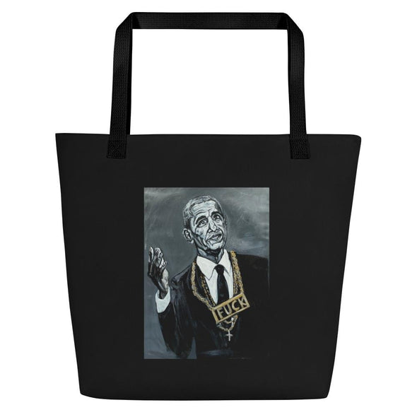 Revolution Art Shop Biden My Time | The F Word Series by Charles Baker Strahan Beach Bag Tote