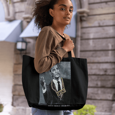 Charles Baker Strahan Biden My Time | The F Word Series by Charles Baker Strahan Beach Bag Tote