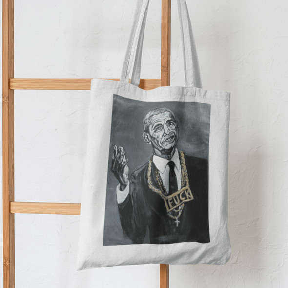 Charles Baker Strahan Biden My Time | The F Word Series by Charles Baker Strahan Small Tote Tote