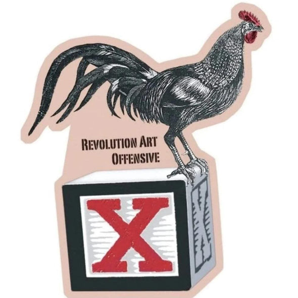 Revolution Art Shop Coq Bloq Die Cut Vinyl Stickers Sticker